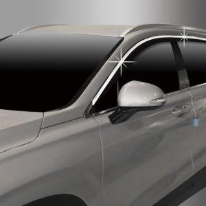 Chắn mưa đen, nẹp mạ chrome (6 pcs) – HYUNDAI Santa Fe – D983