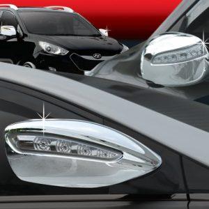 Ốp gáo gương chrome (4pcs, LED) – HYUNDAI Santa Fe – C446