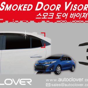Chắn mưa smoke (4pcs) – TOYOTA Vios – E211