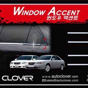 Nẹp chân kính chrome – HYUNDAI Sonata – A860