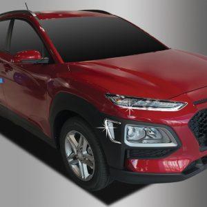 Ốp trang trí chân đèn pha và cửa gió tai xe Chrome (4pcs-) – HYUNDAI Konna – D879