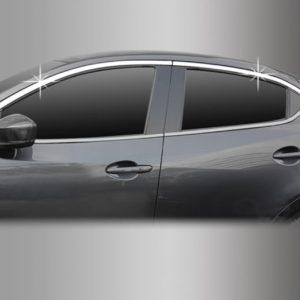 Viền kính cửa, phía trên ( Chrome – 4DR Sedan + 5DR Hatchback) – MAZDA Mazda 2 – C141