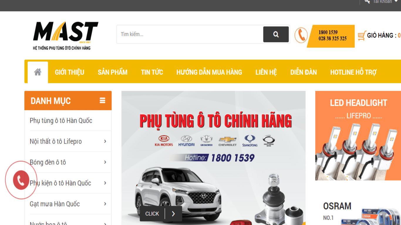phụ kiện ô tô Đà Nẵng