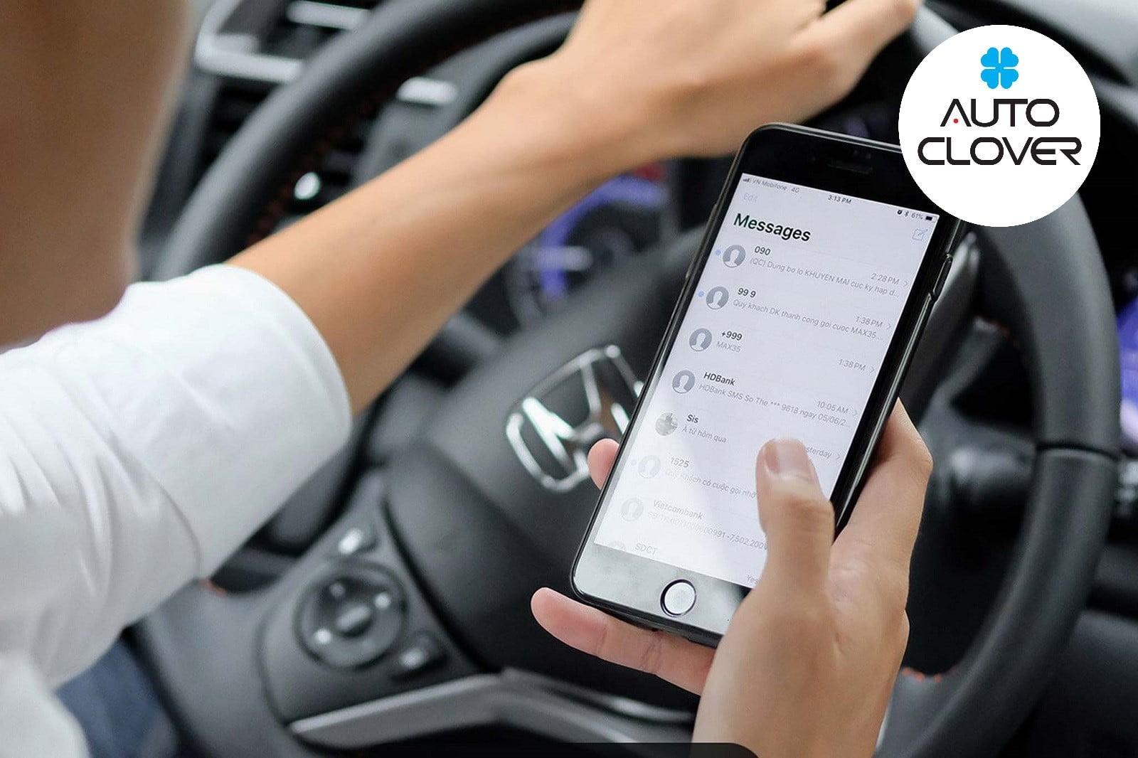 Sử dụng điện thoại khi đang lái xe