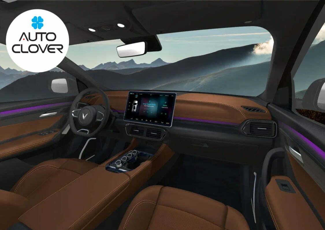 Nội thất bên trong của dòng xe ô tô vinfast mới nhất sắp được ra mắt VF32