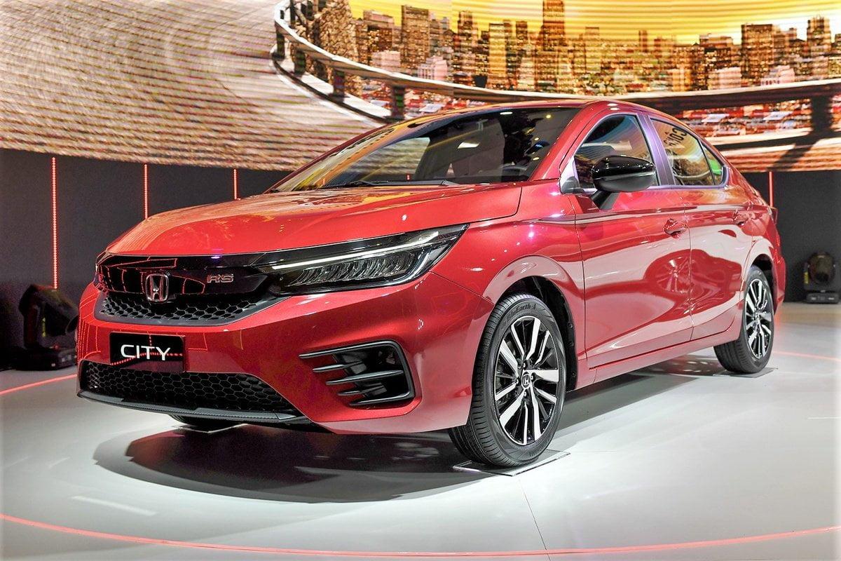 Honda city 2021 rs màu đỏ rực lửa