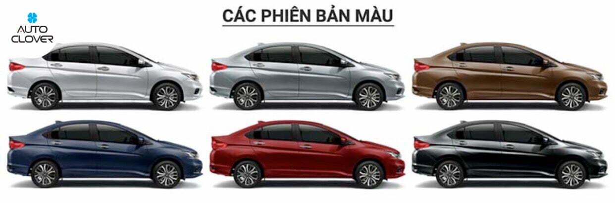 Honda City 2021 với các phiên bản màu đa dạng